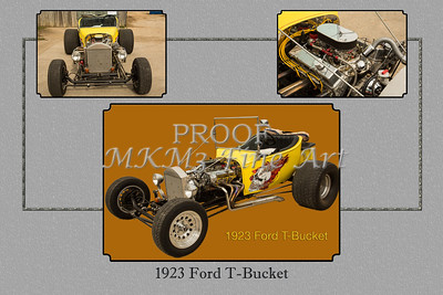 Classic Car 1923 Ford T-Bucket Yellow 5690.02
