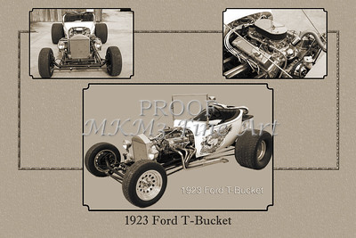 Collage 1923 Ford T-Bucket Yellow Classic Car 5690.01