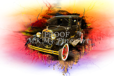 Painting1930 Ford Model A Sedan 5538,04