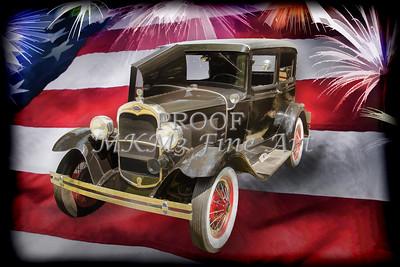1930 Ford Model A Sedan Painting 5538,29