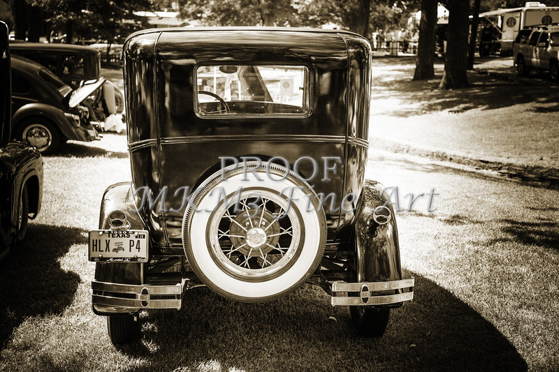 1930 Ford Model A Sedan Back Side 5538,25