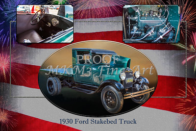1930 Ford Stakebed Truck Collage 5512.04