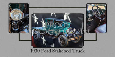 1930 Ford Stakebed Truck Wall Art 5512.05