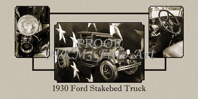 Wall Art 1930 Ford Stakebed Truck 5512.54