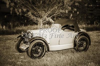 Vintage Car Side Top 1930 MG 1743.020b