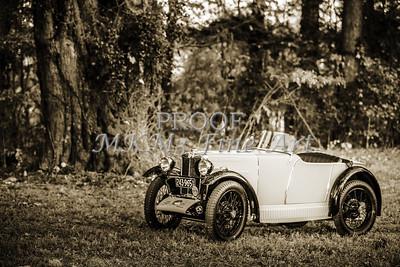 Classic Car 1743.013b 1930 MG at Park