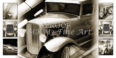 1931 Ford Model A Collage in Sepia