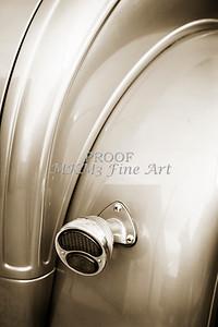 Sepia 1931 Ford Model A Classic Car Back Fender 3218.01