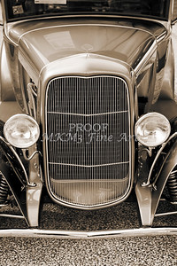 Grill of 1931 Ford Model A Classic Car 3215.01