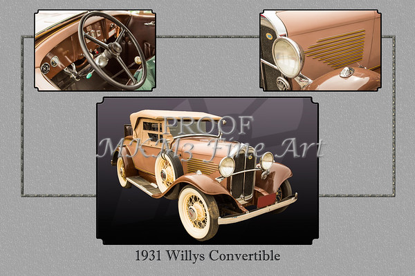 1931 Willys Convertible Car Antique Vintage Automobile Photographs Fine Art Prints 4052.02