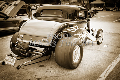 1932 Ford Highboy Street Rod Classic Car automobile Antique Vintage Automobile Photograph Fine Art Print Collectables in Sepia  3109.01