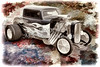 1932 Ford Highboy Street Rod Classic Car automobile Antique Vintage Automobile Fine Art Print Collectables Painting in Color  3123.02