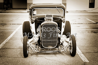 1932 Ford Highboy Street Rod Classic Car automobile Antique Vintage Automobile Photograph Fine Art Print Collectables in Sepia  3105.01