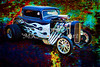 1932 Ford Highboy Street Rod Classic Car automobile Antique Vintage Automobile Fine Art Print Collectable painting in Color  3124.02