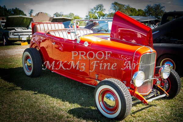1932 Ford Roadster Street Rod Classic Car automobile Antique Vintage Automobile Photograph Fine Art Print Collectable in Red Color  3059.02