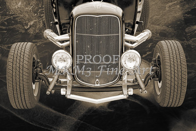 1932 Ford Roadster Sepia Posters and Prints 014.01