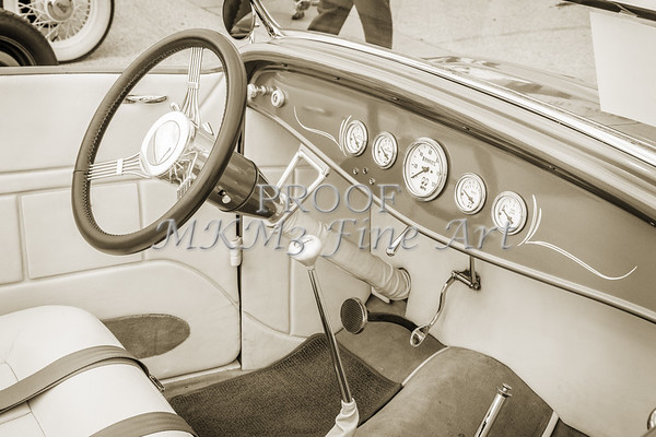 1932 Ford Roadster Sepia Posters and Prints 024.01