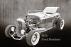 1932 Ford Roadster Sepia Posters and Prints 018.01