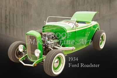 1932 Ford Roadster Posters, Prints, and Paintings in both color and sepia black and white by M K Miller.