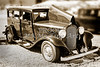 1932 Plymouth With Suicide Doors in Sepia 3043.01