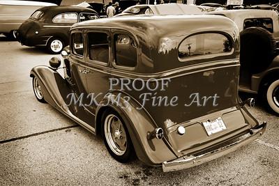 1933 Chevrolet Chevy Sedan Classic Car side in Sepia 3174.01