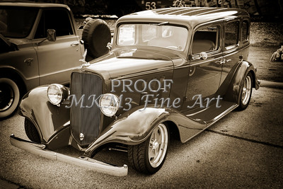 1933 Chevrolet Chevy Sedan Classic Car in Sepia 3165.01