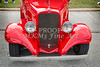 1933 Chevrolet Chevy Sedan Front End of Classic Car in Color Red  3163.02