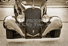 1933 Chevrolet Chevy Sedan Front End of Classic Car in Sepia 3163.01