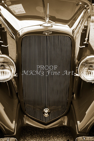 1933 Chevrolet Chevy Sedan Classic Car Grill in Sepia 3167.01