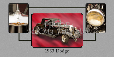 1933 Dodge Vintage Classic Car Automobile Photographs Fine Art Print Collectable Collage 4146.02