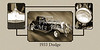 1933 Dodge Vintage Classic Car Automobile Photographs Fine Art Print Collectable Collage 4147.01