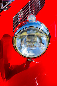 1933 Ford Vilky Automobile Headlight in Red Color 3026.02