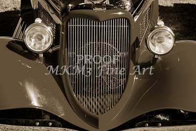 1933 Ford Vilky Automobile  Front End and Grill Sepia 3024.01