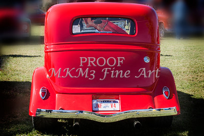 1933 Ford Vilky Automobile Back End Side in Color Red 3028.02