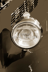 1933 Ford Vilky Automobile Headlight in Sepia 3026.01