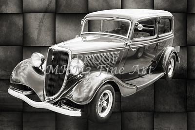 1934 Ford Sedan Antique Vintage Photograph Fine Art Print Collectables 205