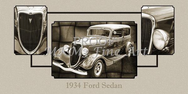 1934 Ford Sedan Antique Vintage Photograph Fine Art Print Collectables 203
