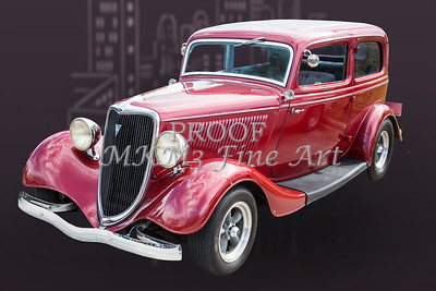 1934 Ford Sedan Antique Vintage Photograph Fine Art Print Collectables 207