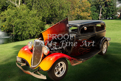 1934 Ford Street Rod Classic Car Photograph Print by M K Miller in both color and Sepia Black and white