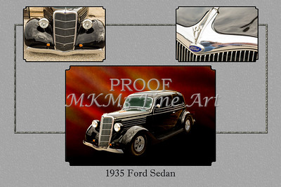 1935 Ford Sedan Vintage Antique Classic Car Art Prints 5031.02