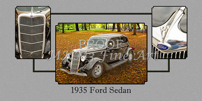 1935 Ford Sedan Vintage Antique Classic Car Art Prints 5032.02