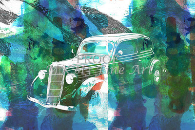1935 Ford Sedan Vintage Antique Classic Car Art Prints 5036.02