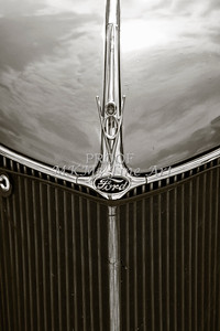 1936 Ford Classic Car or Automobile Front Grill in Sepia  3117.01