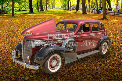 1937 Buick 40 Special Photograph Prints by M K Miller in both color and Sepia Black and white.