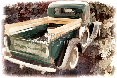 1937 Ford Pickup Truck Spare Tire Classic Car Painting in Color 3314.02