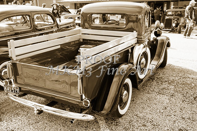1937 Ford Pickup Truck Spare Tire Classic Car Photograph in Sepia 3313.01