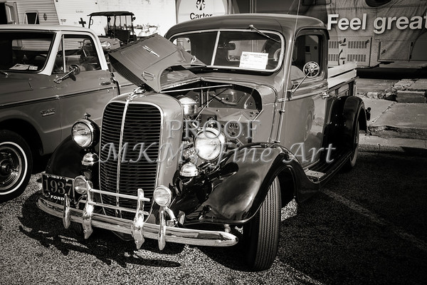 1937 Ford Pickup Truck Classic Car Photograph in Sepia 3308.01