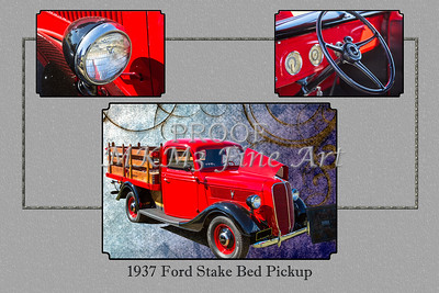 1937 Ford Stake Bed Pickup Antique Vintage Photograph Fine Art Prints Collectables 102
