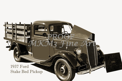1937 Ford Stake Bed Pickup Antique Vintage Photograph Fine Art Prints Collectables 105