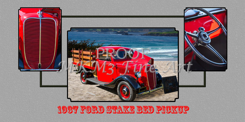 1937 Ford Stake Bed Pickup Antique Vintage Photograph Fine
